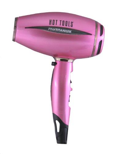 Hot Tools PINKTITANIUM Salon 1600 Watt Titanium Ionic Hair Dryer