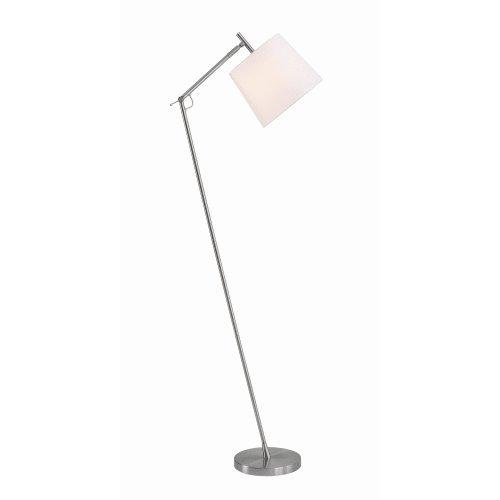 Single Swing Arm Floor Lamp (Kenroy Home 33056 Leaner Single Light 60
