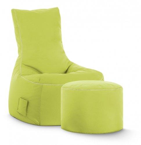 Sitzsack-Set Brava Swing + Hocker grün Sitting Point