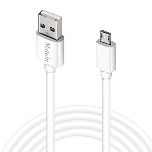 Micro USB Charger Cable, [15 Ft] Durable Extra Long USB 2.0 Charge Cord, High Charging Speed for Android/Windows Smartphones/Samsung/HTC/Motorola/Nokia/LG/Tablet and More(White)
