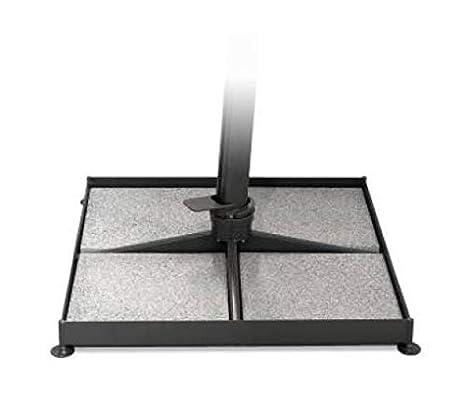 Ombrellone A Braccio 4x4.Sal Mar Base Per Ombrellone Platinum Misura 4x4 Metri Con 12