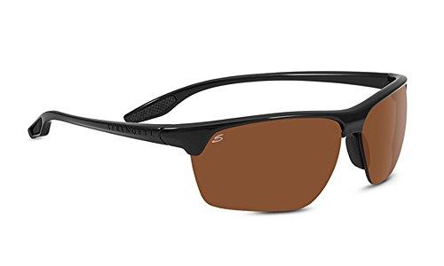 Serengeti 8505 Linosa Polar PhD Drivers Sunglasses, Shiny Black