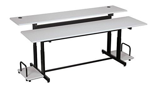 Balt Split Level Workstation – 72X36x25.6 To 31.6
