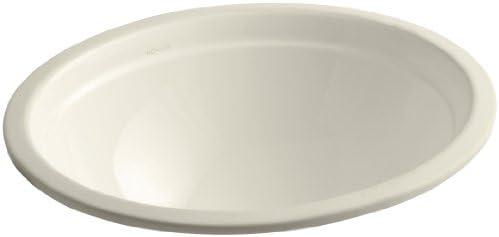 Kohler 2319-47 Vitreous china undermount oval Bathroom Sink, 20.75 x 17.38 x 9.75 inches, Almond