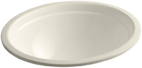 KOHLER K-2319-47 Bancroft Undercounter Bathroom Sink, Almond