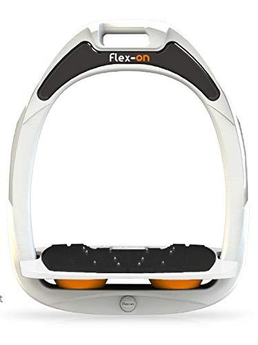 【 限定】フレクソン(Flex-On) 鐙 グリーンコンポジットレンジ Mixed ultra-grip フレームカラー: ホワイト フットベッドカラー: ホワイト エラストマー: オレンジ 32479   B07KMQBX7C