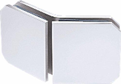 OKSLO CRL Satin Chrome Monaco Series 135 Degree Glass-to-Glass Clamp