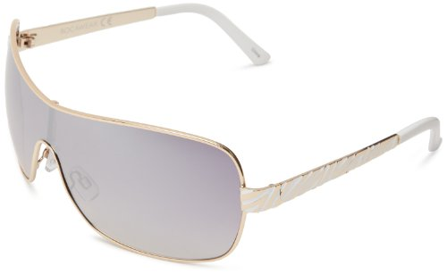 Rocawear R459 GLDWH Shield Sunglasses,Gold & White,70 - Rocawear Glasses