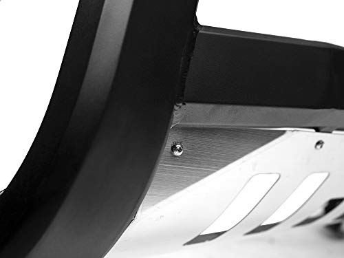 Armordillo USA 7176539 AR Series Bull Bar W//LED Fits 2002-2009 Chevy Trailblazer EXT Matte Black W//Aluminum Skid Plate