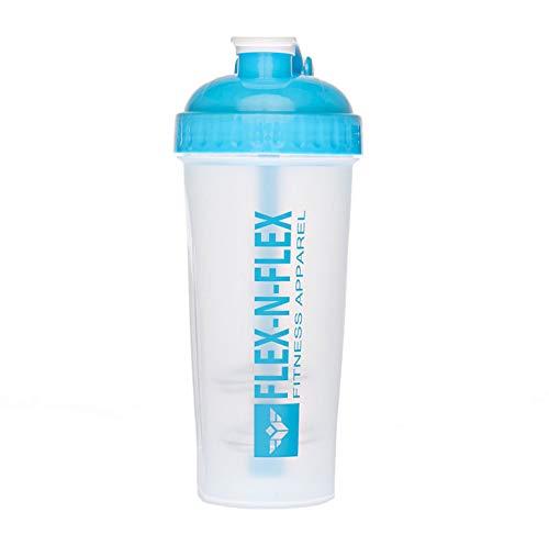Flex-N-Flex Shaker Bottle, 28-Ounce, 100% Leak Proof Protein Shaker Cup, BPA Free (Blue)