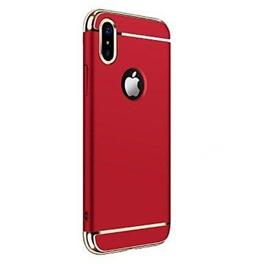 Fundas y estuches para teléfonos móviles, para la cubierta del caso que platea la caja de la contraportada la PC dura del color sólido para el iphone 8 de la manzana iphone 7 más ( Color : Rojo , Mode Oro Rosa
