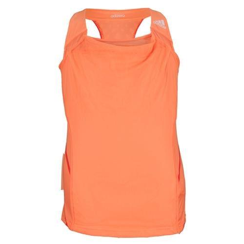 Girls` Adizero Tennis Tank Glow Orange