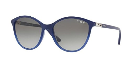 Ray-Ban Women's Plastic Woman Cateye Sunglasses, Opal Blue Gradient Blue, 55 - Ban Ray Cateye Sunglasses