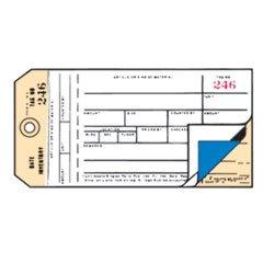 * Duplicate Inventory Tags, Bond Top Copy, 6 1/4 x 3 1/8, Manila/White, by MotivationUSA