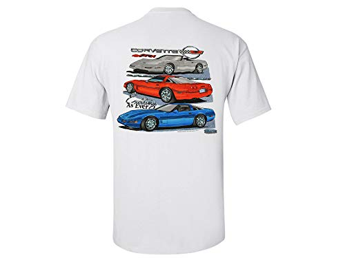 Corvette C4 T-Shirt Exciting As Ever XX-Large White