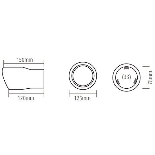 Edelstahl Auspuffblende rund angeschr/ägt 88mm Anschlu/ß 50-72mm