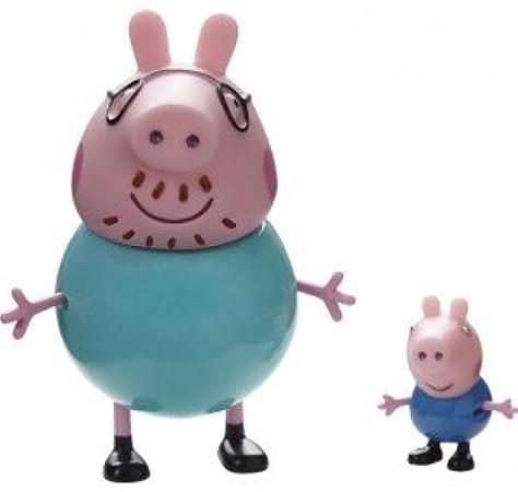 Peppa Pig. Pack figuras George y Papá Pig [Juguete]: Amazon.es: Juguetes y juegos