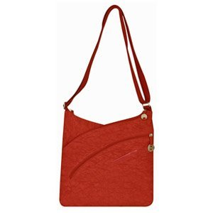 Cross Shoulder Organizer (The Best Travelon Criss-Cross Organizer Shoulder Bag (Orange)-42436-600 - Bring along everything you need, without having to carry a bulky handbag, with this Travelon Criss-Cross Organizer Shoulder Bag. This slim, stylish bag features a fun crinkle design and is perfect as your go-to everyday bag. It includes a total of three main compartments, with two zippered compartments plus a central snap pocket that's big enough to hold a compact umbrella! The rear includes an additio)