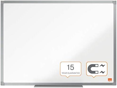 Gamma Essence 600 x 450 mm Vaschetta Porta Accessori Sistema di Montaggio ad Angolo Nobo Lavagna Bianca Magnetica Smaltata Bianco Cornice in Alluminio Incl 1915445