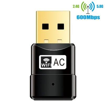 WiFi Adaptador Inalámbrico de 2,4 G/5 G de doble banda 600 Mbps
