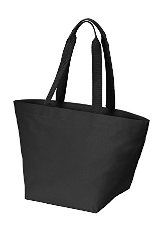Black Port Authority All Carry Black bg409 Zip Tote Ov0Owq