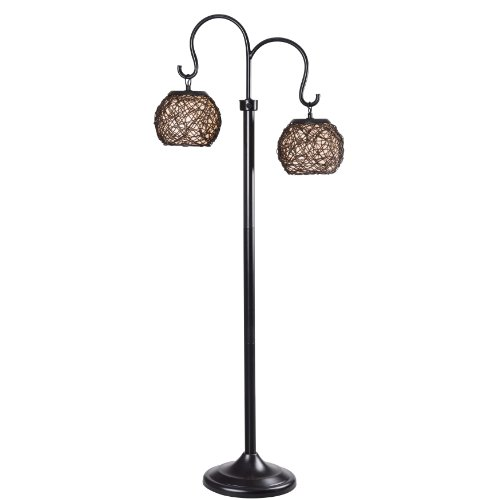 Transitional Outdoor Floor Lamp - Kenroy Home 32246BRZ Castillo Outdoor Floor Lamp, Bronze Finish