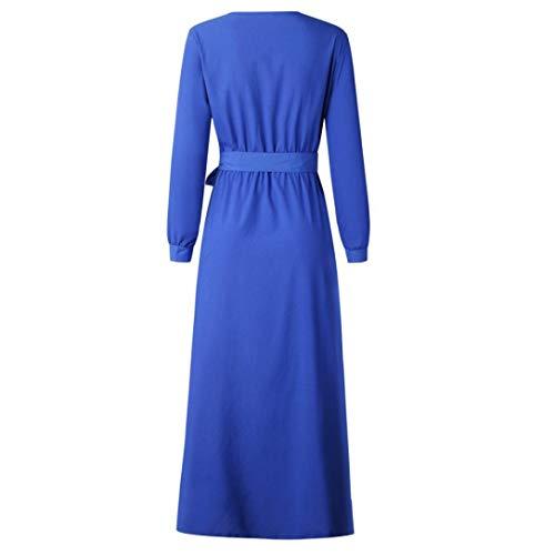 Vestidos Vestidos Fiesta de Cinturones Invierno para POLP Tallas Grandes Mujer otoño Vestidos Verano Azul 2018 Larga Mujer Mujer de Vestidos Vestidos Grandes 2018 Casual Tallas Manga Vestidos wxAx4PqC7v