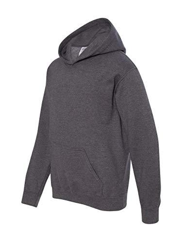 Gildan Big Boys' Heavy Blend Rib Knit Hooded Pocket Sweatshirt, L, Dark ()