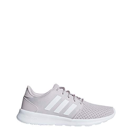 adidas Cloudfoam QT Racer Shoe - Women's Running 9.5 Ice Purple/White/Light Granite