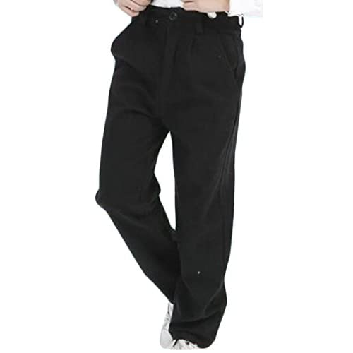 Cromoncent Mens Drawstring Trousers Casual Stitching Slim Fit Jogger Pant