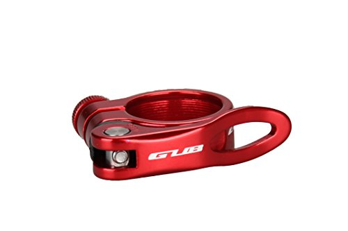 Gub CX18 Aluminum Alloy Bicycle Seatpost Clamp Quick Rlease Bike Seatpost Clamp (Red, 31.8mm)