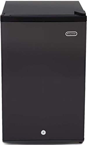 Whynter CUF-301BK Energy Star 3.0 cubic feet Upright Freezer Stainless Steel door with Security Lock with Reversible Door – Black