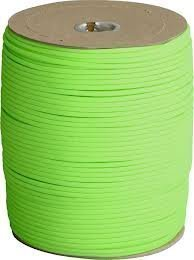 1000 Ft 550 Cord Paracord Spool - Type III Mil-Spec Commercial - 25+ Colors - Wholesale Paracord (Neon Green) by OSS - Our School Spirit