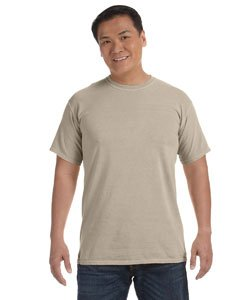 (Comfort Colors Men's 6.1 Oz. Ringspun Garment-Dyed T-Shirt, Sandstone, Medium)