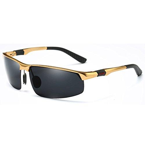 Lunetterie Lunettes de Hommes Polarisées Sunglasses Color Lunettes Soleil YaNanHome Gold de Black pour Men's Hommes Lunettes Personnalisées Soleil de Hommes pour pour Lunettes Soleil xOtO7w