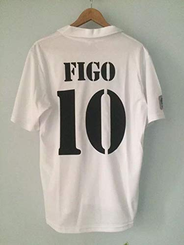 buy popular bc128 901c0 Amazon.com : Retro FIGO#10 Real Madrid Soccer Jersey 2002 ...