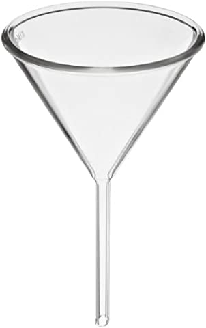 Kimble 28950-90 Glass Round Funnel, with Short Stem, 90mm ID (Pack of 6) - Short Stem Funnel