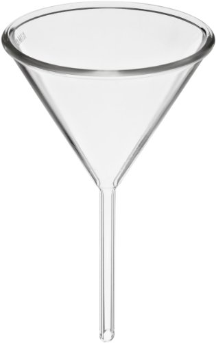 Kimax 28950-25 Glass Round Funnel, with Short Stem, 25mm ID (Pack of 6)