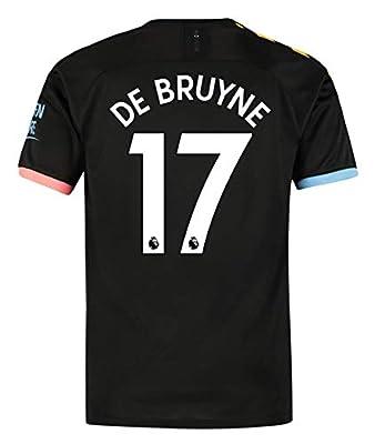 Speed Johng Manchester City 2019/2020 Season #17 DE Bruyne Away Men's Soccer Jersey Color Black (S-XL)