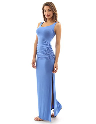 - PattyBoutik Women Sleeveless Summer Maxi Dress (Blue Medium)