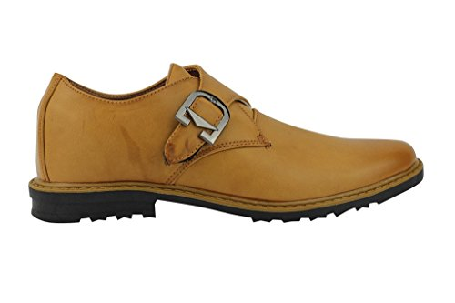 Xposed - Zapatos de cordones de piel sintética para hombre Marrón café HrMizCvanv
