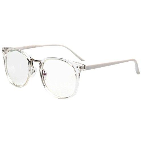 hibote Männer Frauen freie Objektiv-Geek / Nerd-Retro Wayfarer Brille X8 #Xier