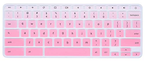 Lenovo Chromebook Keyboard Cover Compatible with 11.6 Lenovo Chromebook C330 /Lenovo Flex 11 Chromebook 11.6 /Lenovo Chromebook N20 N21 N22 N23 / Chromebook N42 N42-20 14(Gradual Pink)