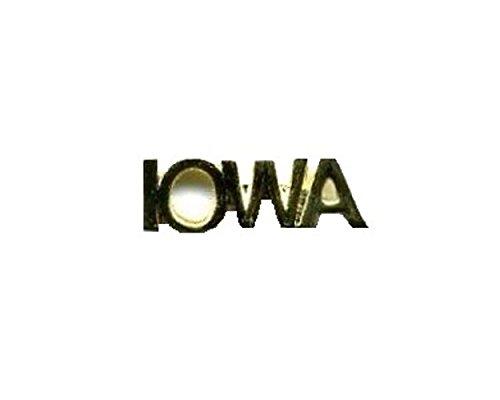 (IOWA Lapel Pin Hat Tie Tac Brass TWN)