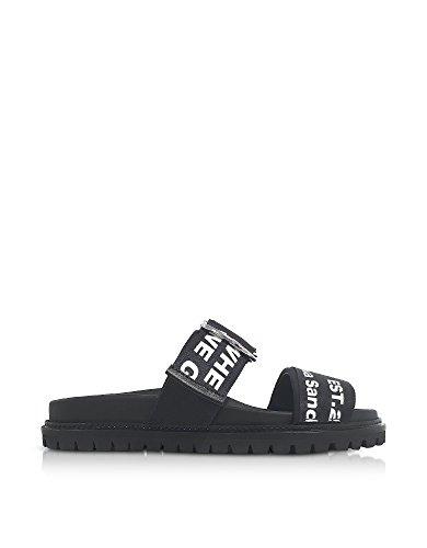 Joshua Sanders Women's 10504BLACKGOHIGH35 Black PVC Sandals