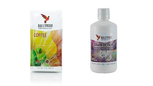 Bulletproof Coffee Ground and 32 Oz Brain Oil by Bulletproof