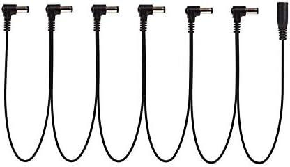 Sin logotipo GWTRY Daisy Chain 1 a 3, 4, 5, 6 vías, cable de alimentación para pedal de efectos de guitarra, cable de alimentación para enchufe adaptador de 9 V CC