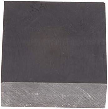 SOFIALXC Graphitplatte, Graphitblock mit 99,9% Reinheit, mit hoher Reinheit Dichte, Zähigkeit EDM Graphitplattenfräsoberfläche 100x100x50 mm