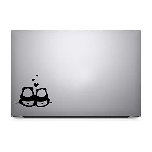 Vinyl Panda (Bargain Max Decals - Two Pandas in Love - Decal Sticker for MacBook Pro Air 13