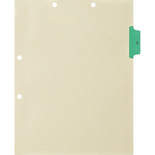 Medical Arts Press Match Colored Side Tab Chart Dividers- Lab, Position 2 (100/Pkg) ()